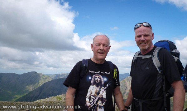 Steve & Bob on the summit of Scafell Pike