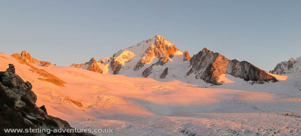 Evening light on the Aiguille du Chardonnet (3824m)