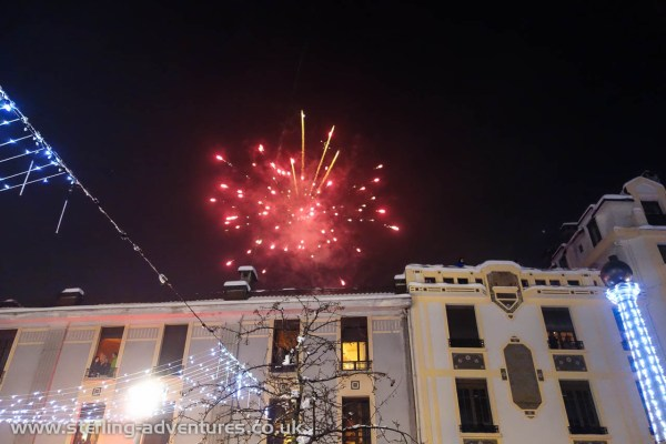 Fireworks over Cham at New Year