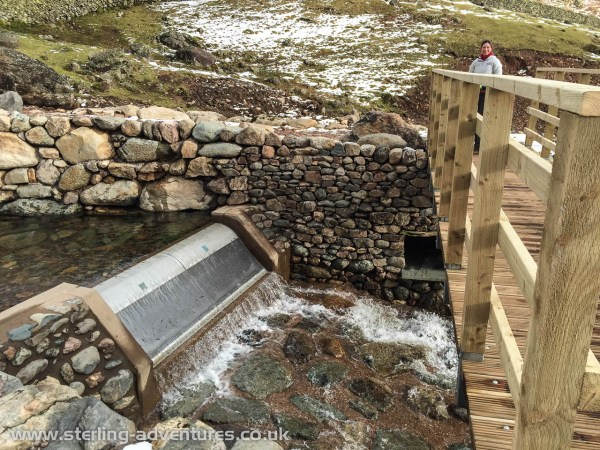 The water collection point for the new hydro electric generator in Stickle Ghyll