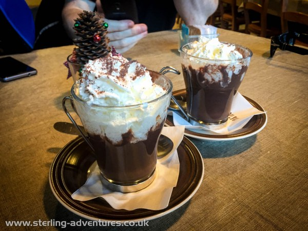 The Italians make, perhaps, the best hot chocolate drinks in the world!