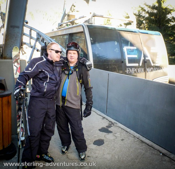Jon and Dave at the main lift from Courmayeur