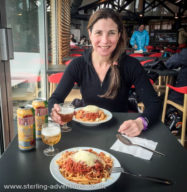 What better way to celebrate a birthday than with a slap-up-meal in a ski resort with powder snow in the spring!