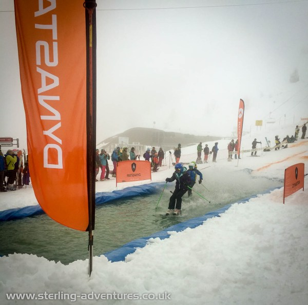The poor weather was a shame, but many had a go at the water skiing!