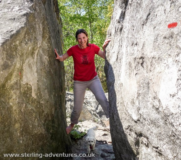 On the way home we stopped off for a few days of bouldering at Fontainebleau