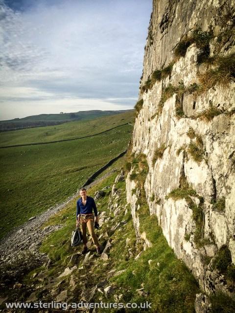 Climbing at Robin Proctor's Scar