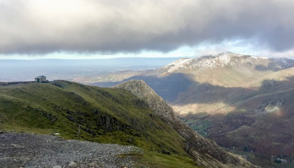 Heavy clouds looking down the Llanberis valley