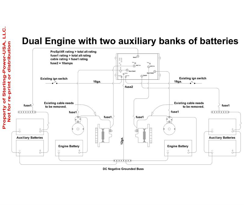 24v alternator wiring diagram earth crust with lithosphere zero volt drop marine battery isolator