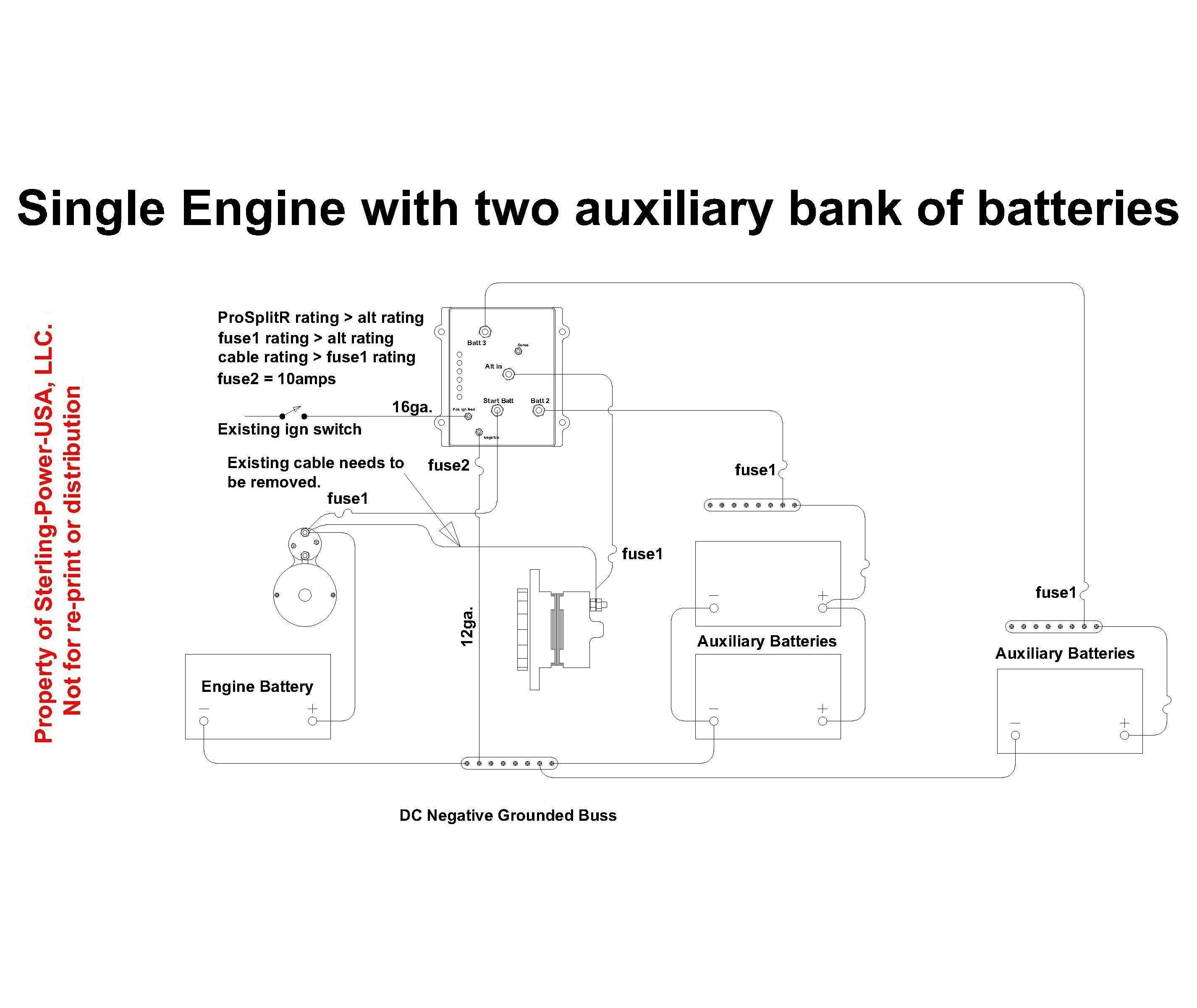 battery isolator wiring diagram strat bridge tone control diagrams literature for pro charge ultra marine a sterling power prosplit r zero drop with 2 input and 3 outputs