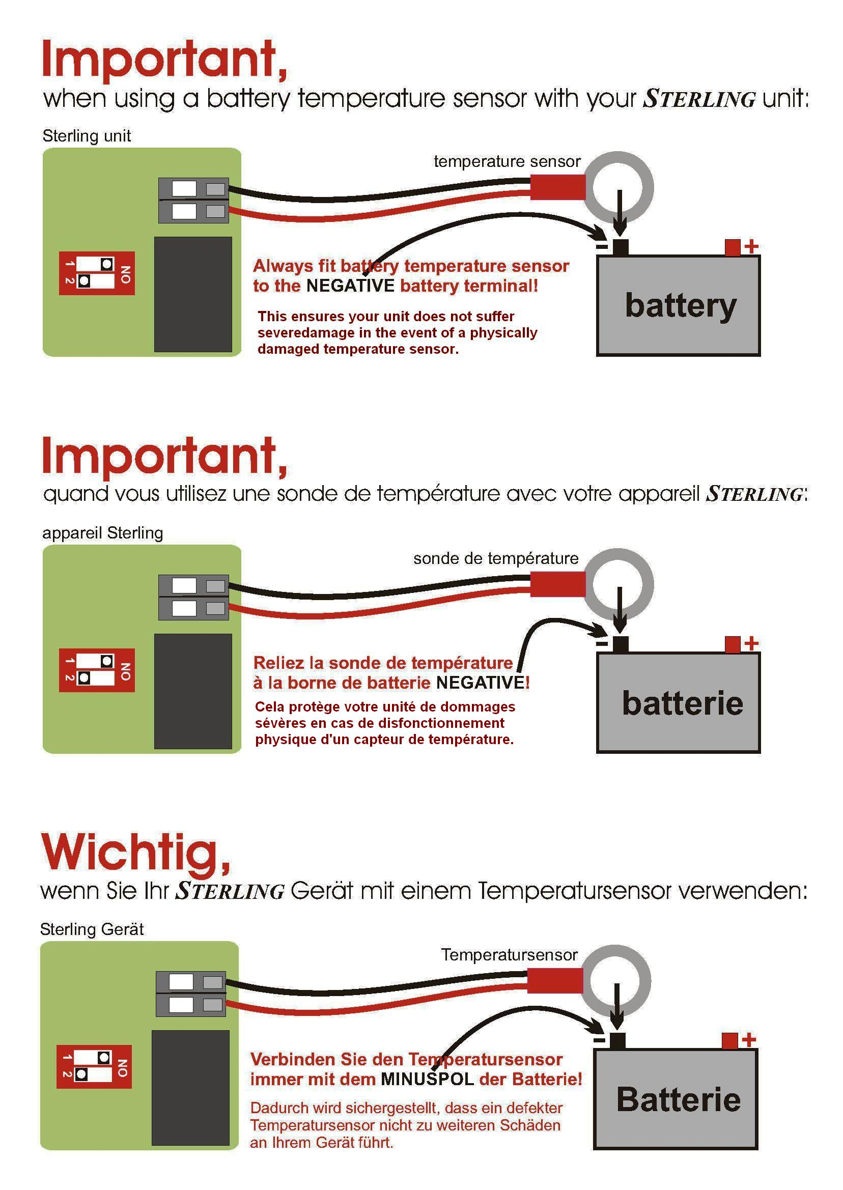 Wiring Diagrams & Literature For Pro Charge Ultra Marine Battery