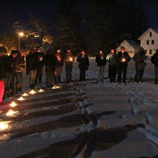 A candlelight vigil for Eric Garner and racial injustices in the United States
