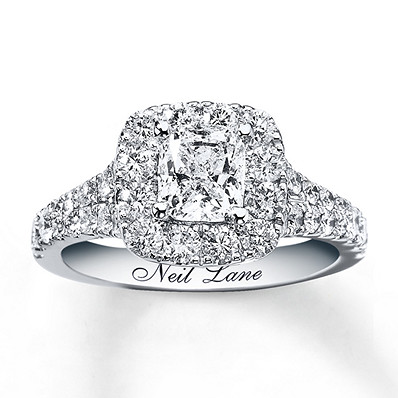 Neil Lane Engagement Ring 2 16 Ct Tw Diamonds 14K White