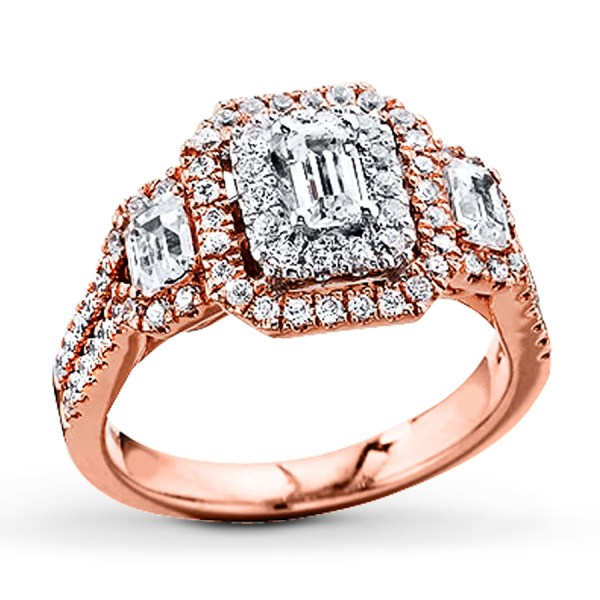 Engagement Ring 1-1 2 Ct Tw Diamonds 14k Two-tone Gold