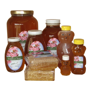 Beeline honey products collage