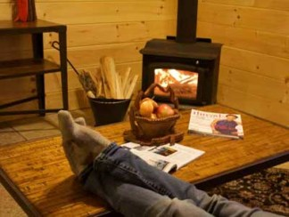 Coziness by the wood stove