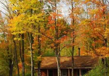 Vermont fall foliage at sterling ridge resort