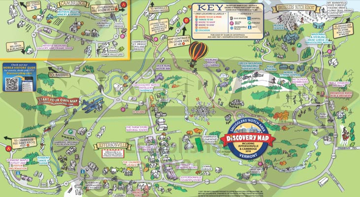 Things to do in Jeffersonville Vermont - Discovery Map of Smuggs VT