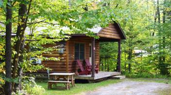 romantic cabin in Vermont
