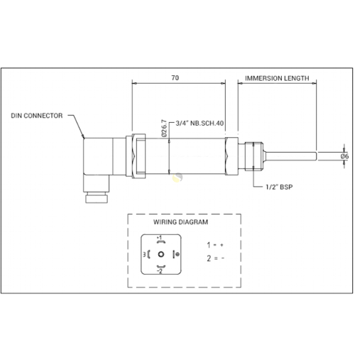 small resolution of pt100 rtd sensor with integral 4 20ma transmitter rtd with integral transmitter drawing