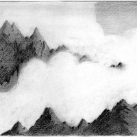 mountain cloud drawing