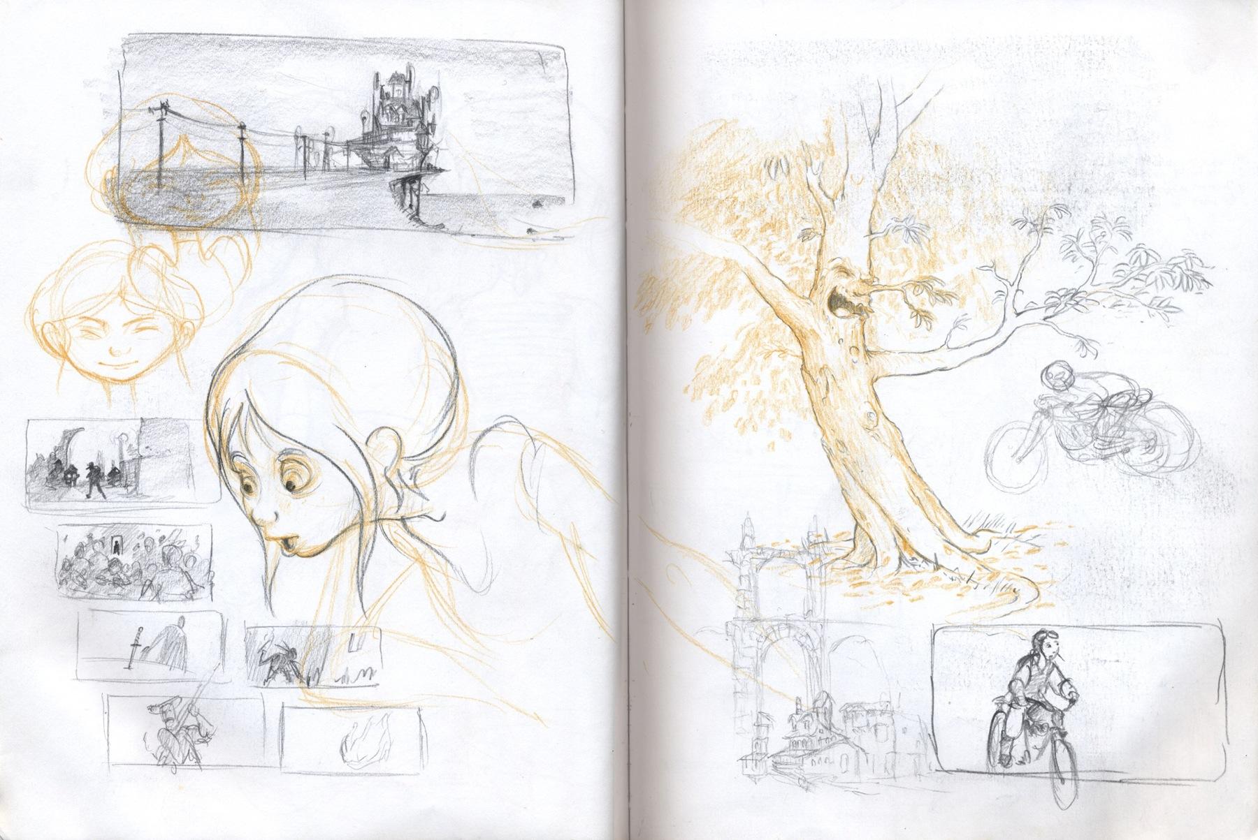 sketchbook drawing tree