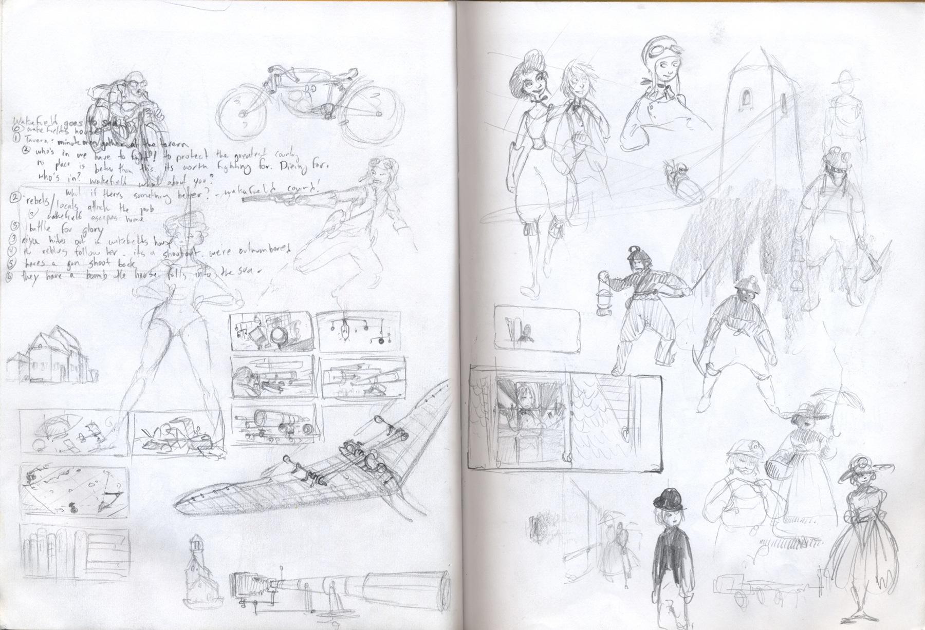 sketchbook drawing thumbnais