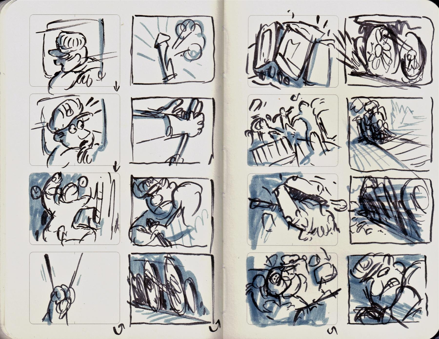 train storyboards