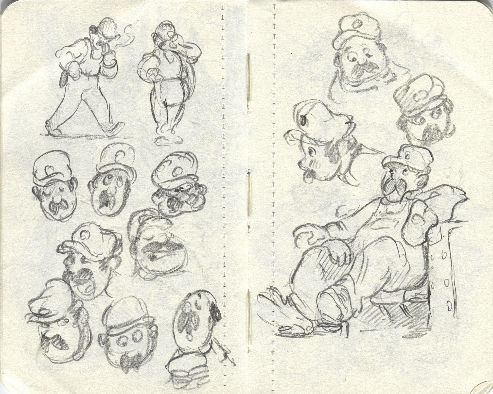 man sketches