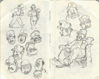man sketches