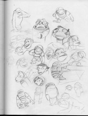 chimp doodles