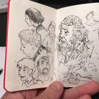 first page of a moleskine sketchbook