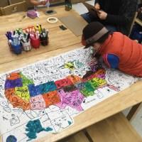 Preschool map making