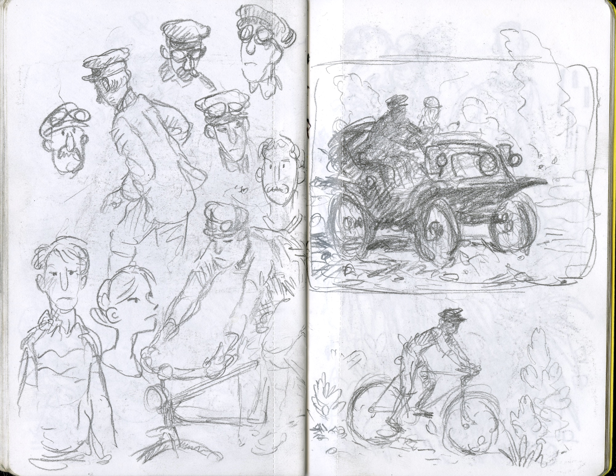 bike and automobile in the mud