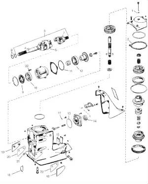 OMC Cobra / Volvo SX exploded view drawings