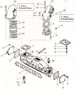 Mercruiser manifolds & risers *4 Cylinder *V6-V8 engine