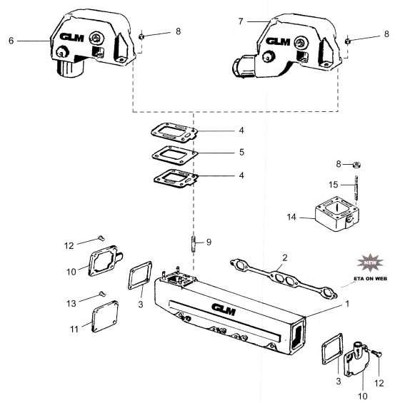 Mercruiser manifold 305-350 GM