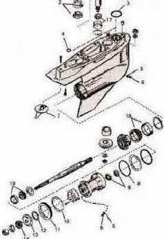 Mercruiser Bravo parts with outdrive drawings