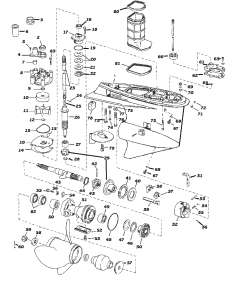 Evinrude / Johnson outboard parts drawings