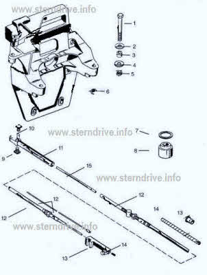 Mercruiser shift cable parts drawing *Transom plate