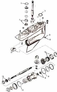 Mercruiser outdrive parts drawing *How to Videos *SEI unit