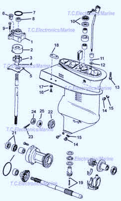 Evinrude  Johnson outboard parts drawings * How to videos