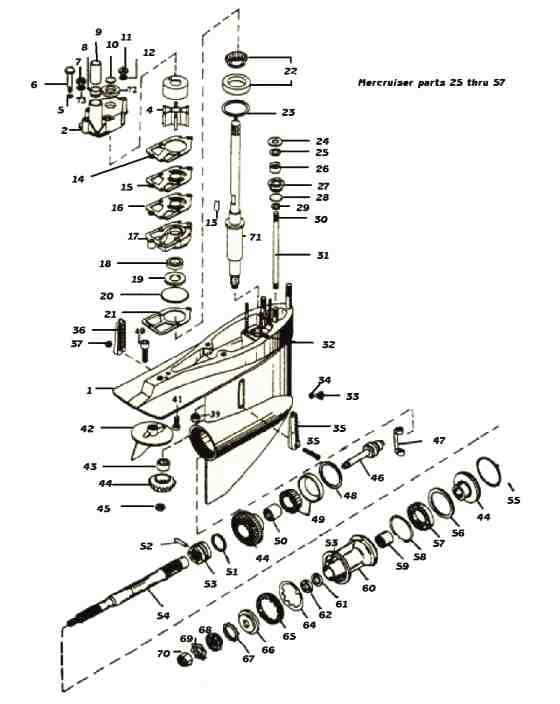 Mercruiser lower unit drawing *Outdrive parts 25-43