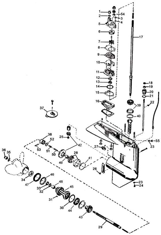Mercury Outboard Lower Unit Schematic, Mercury, Free
