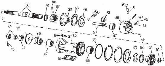 OMC clutch dog drawing *400 *800 *Cobra *Stringer