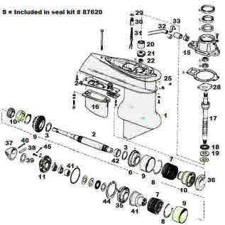 mercury outboard power trim wiring diagram concentric pot omc parts exploded view drawings outdrive repair help videos electric shift 1972 1977