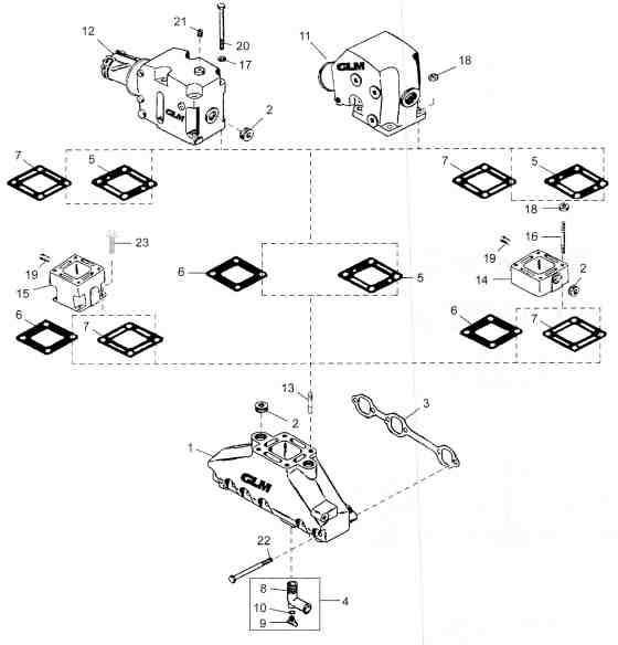 Mercruiser manifold GM 305 350 V8 engine