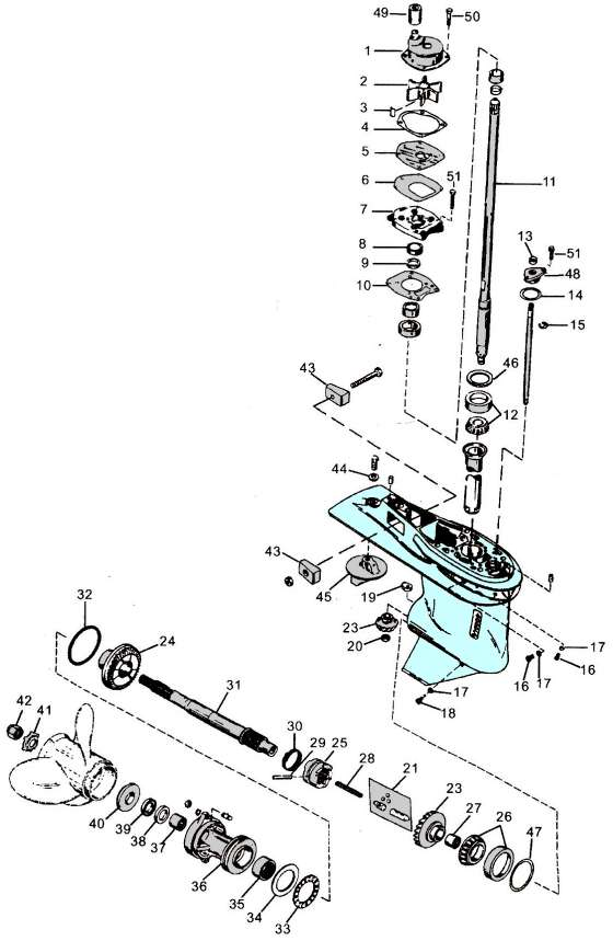 Mercury outboard parts drawing 60-125 hp.