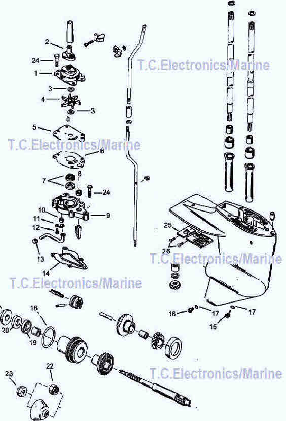 Mercury outboard parts drawing 6, 8, 9.9, 10 & 15 hp.