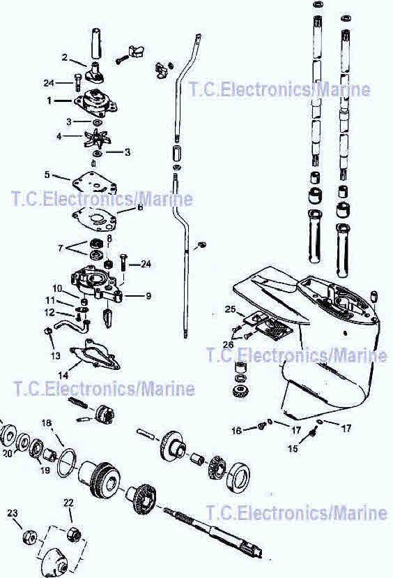 wiring diagram evinrude logo mercury outboard lower unit diagram