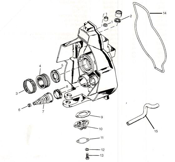 Mercruiser parts drawing *Gimbal housing